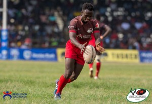 Resolution Impala Saracens Xavier Kipngetich  in action at Christie 7s